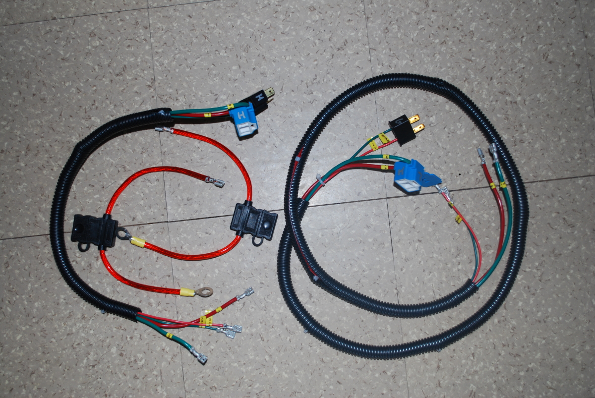 My Jeep Cj5 Page Lighting Upgrade Part Two Electrical Wiring After Laying Things Out And Measuring Twice I Cut Wires To Length Soldered The Connectors Ends Bundled Them Up Put Bundles In Some