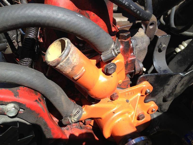 My Jeep CJ5 Page - Water Pump Installation